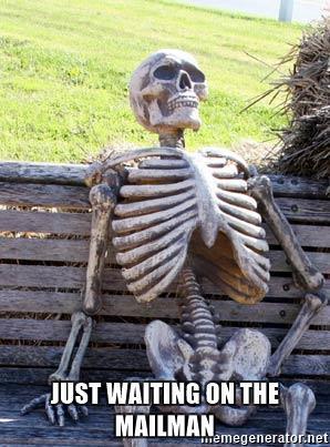 Venter på posten